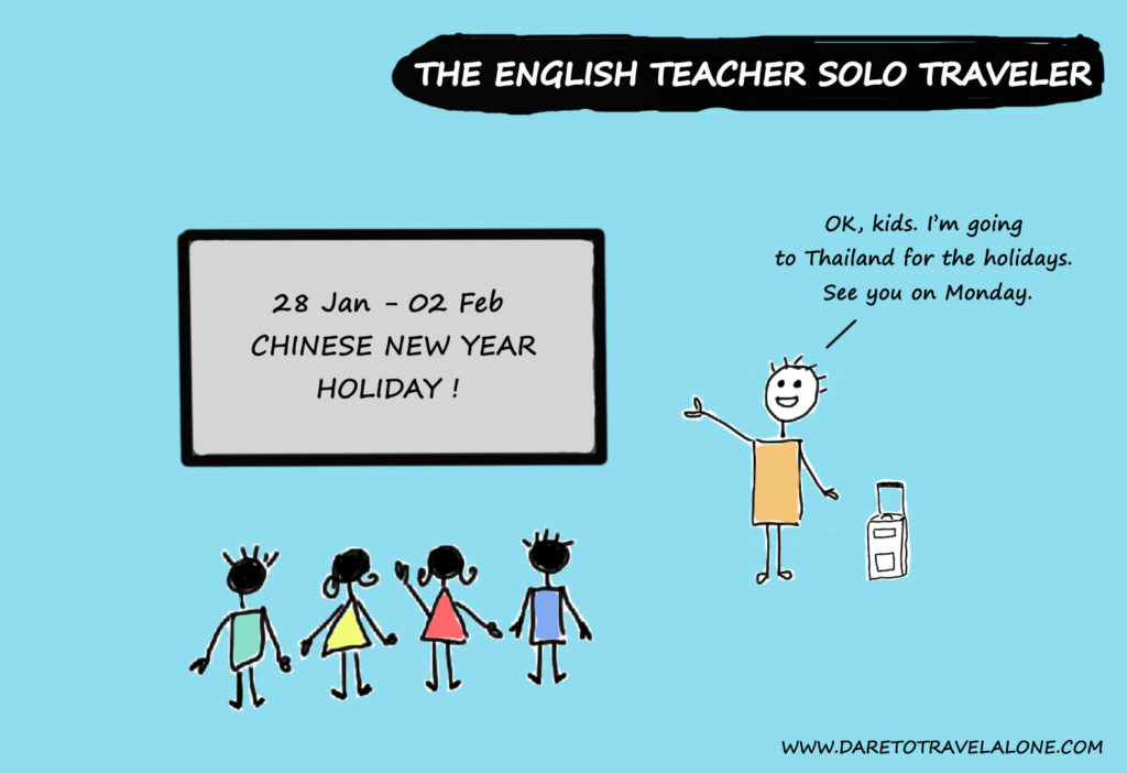 English teacher solo traveler