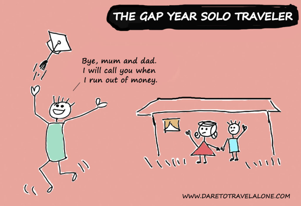 Gap year solo traveler