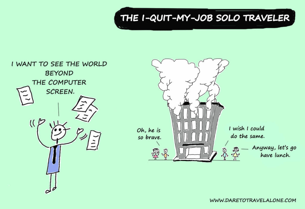 I quit my job solo traveler