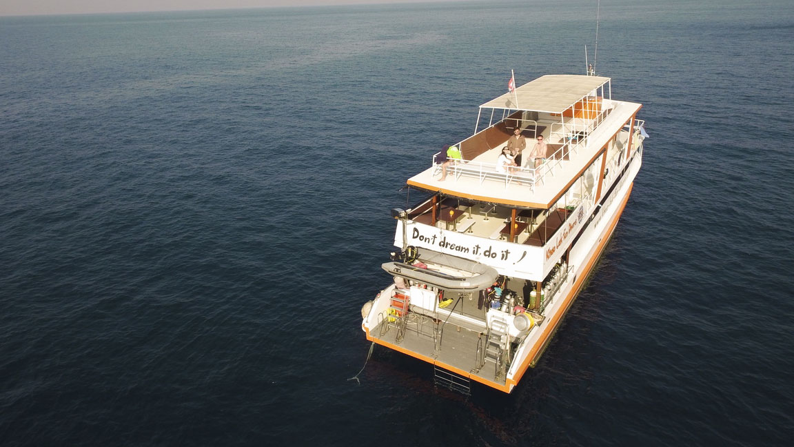 The Similan Islands, diving boat
