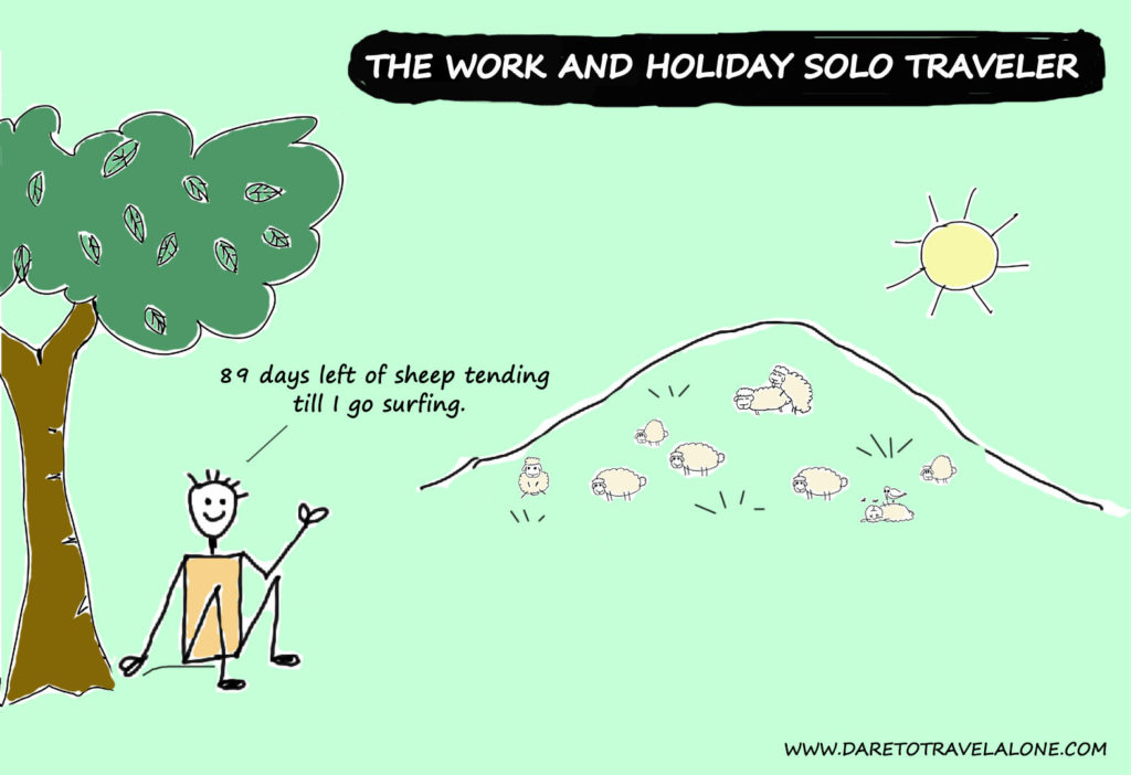 work and holiday solo traveler